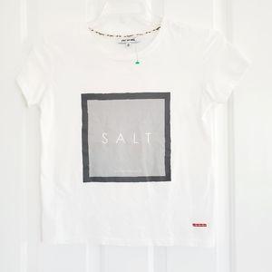 Round neck  white tee - tshirt Xs